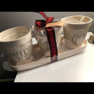 Rae Dunn holiday planter set